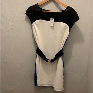 NWT Express XS colorblock dress